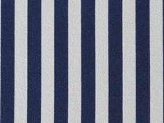 Tissu Crepe Ecru Imprimé Petite Rayure Verticale Bleu Marine pas cher sur thesweetmercerie.com,