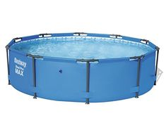 Bestway 10 Feet X Steel Pro Max Round Above Ground Swimming Pool With Pump : Target Cool Swimming Pools, Above Ground Swimming Pools, Above Ground Pool, In Ground Pools, Oberirdische Pools, Solar Cover, Intex Pool, Pets, Piscine Hors Sol