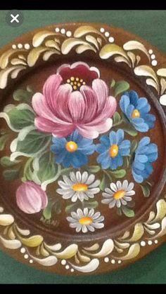 Mural Painting, Tole Painting, Fabric Painting, Folk Art Flowers, Flower Art, Rosemaling Pattern, Acrilic Paintings, Russian Folk Art, Scandinavian Folk Art
