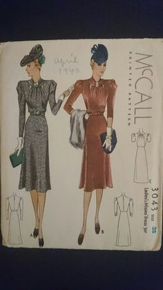 McCall 3043, Stop Traffic 1930s dress day to night super dress at StarletPatterns