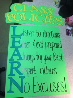 Maybe we start with LEARN or RESPECT and the kids come up with the class rules to go with it!