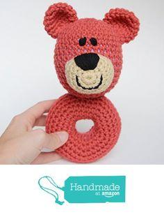 Baby Rattle - Crochet Teddy Bear - Plush Rattle from Simply Hooked https://www.amazon.com/dp/B06ZZNYK1M/ref=hnd_sw_r_pi_dp_f4buzbNVMB5JS #handmadeatamazon