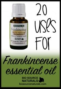 20 Uses For Frankincense Essential Oil.  While Frankincense is traditionally used for spiritual growth, it's also good for headaches, insomnia, soothes mild cuts and so much more!  Get more information about Frankincense at Biosource Naturals! #aromatherapy