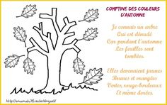 Comptine des couleurs d'automne Poems, November, Images, Home Decor, Nursery Rhymes, Big Noses, Red Nose, Songs, Texts