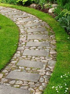 Awesome Simple Rock Walkway Ideas
