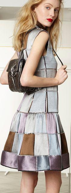 Talbot Runhof Patchwork Style Dress #UNIQUE_WOMENS_FASHION