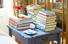 I love having books everywhere—reading is my favorite way to Zen out and get happily lost. But I'll be glad to make room for good new reads.