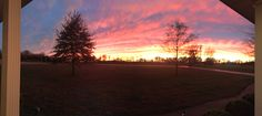 Beautiful sunset after a rainy day