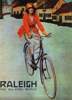 Vintage Raleigh cycling poster