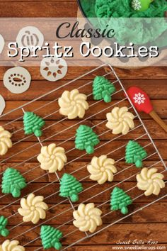 Classic Spritz Cookies- simple ingredients, easy to bake, and makes a lot!
