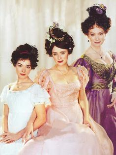 Justine Waddell, Keeley Hawes and Francesca Annis in 'Wives and Daughters' 1999 mini-series