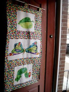 What a fun welcoming banner that can be used as a quilt or blanket later! Mama May i Blog: Hungry Caterpillar Birthday Party
