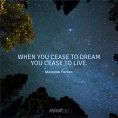 Dreams give the power of life…  https://get.mindzip.net #malcolmforbes #dream #livebig #inspirational #quoteoftheday #power #life #instaquote #quotes #MindZip #CitaPix