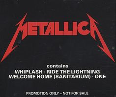 "For Sale -Metallica Whiplash Sampler UK Promo  CD single (CD5 / 5"")- See this and 250,000 other rare and vintage records & CDs at http://eil.com/"