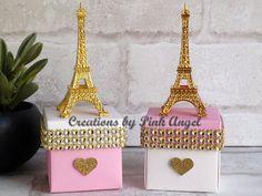 Conjunto de 6 favores de cumpleaños de Paris Paris oro y rosa