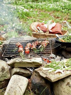 Spring lamb kebabs