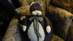 Large over sized stuffed Cat door stop by EMTWTT on Etsy, $35.00