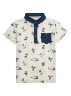 Boys Boys Cream Dinosaur Polo Shirt (3-12 years)   Tu clothing