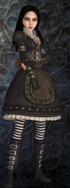 Alice from Alice madness returns a whole different story from the original Alice in wonderland