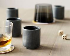 I hate whiskey, but these are awesome. [Whiskey Stone Shot Glasses via coolmaterial.com]