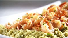 Get this all-star, easy-to-follow Shrimp Scampi with Pesto Couscous recipe from Sandra Lee