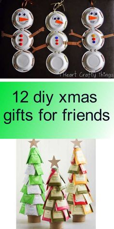 12 diy xmas gifts for friends Diy Xmas Gifts, Diy Tutorial, Gifts For Friends, Crafty, Holiday Decor