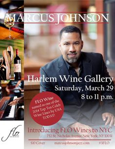 Jazz Legend Marcus Johnson about his wine collection Flo Wines  http://www.blogtalkradio.com/mwhyllc/2014/11/14/off-the-vine-with-benita-and-terricinia
