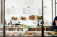 Concept: raw — the dieline - package design resource juice bar interior, cafe interior Bar Deco, Deco Cafe, Decoration Restaurant, Deco Restaurant, Organic Restaurant, Healthy Restaurant Design, Modern Restaurant, Smoothie Bar, Salad Bar Restaurants