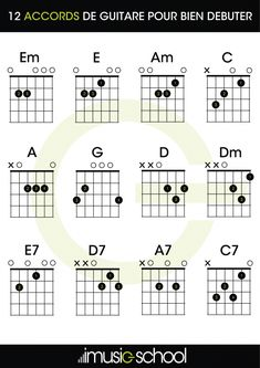 Start with those beginner guitar chords. Thought for beginners, this free pdf chart shows essentiel guitar chords you need to play guitar. Guitar Chords Beginner Songs, Guitar Tabs For Beginners, Guitar Chords And Lyrics, Acoustic Guitar Chords, Music Theory Guitar, Easy Guitar Songs, Guitar Chords For Songs, Guitar Chord Chart, Music Guitar