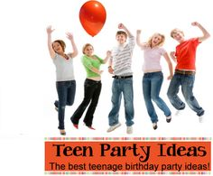 Teen  Party Ideas - Great ideas for teenage birthday parties!  Find more party ideas at Birthdaypartyideas4kids.com