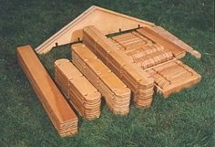 Buillder Boards  Lil' life size lincoln logs  How cool!