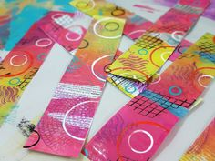 So Fun!! Great music too. 8 miniute tutorial on making your own Gelli Plate Packing Tape Transfers!