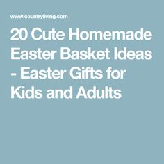 5 super cute easter baskets you can make for your friends 6 m 20 cute homemade easter basket ideas negle Choice Image