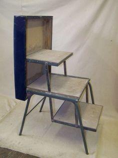 DDR Klapphocker, Leiter Treppe Hocker, Vintage Retro Design