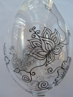 Hand Painted glassware with LOTUS & MEHNDI designs. Custom and PERSONALIZED (option). hand painted in choice of copper, gold, pewter. Mehndi Glass via Etsy.