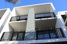 || The York, Brunswick || Some shots from onsite yesterday COLORBOND steel Express Panel in Monument & Windspray to four multi-storey apartment buildings for BuildCorp. #theyork #westbrunswick #industrycladding #metalcladding #buildcorp