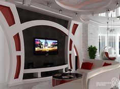 50 Images Of Modern Floating Wall Theater Entertainment Design Ideas With Shelve… 50 Bilder von modernen Floating Wall Theatre Entertainment-Design-Ideen mit Regalen – Bahay OFW Living Room Tv Unit Designs, Ceiling Design Modern, Roof Design, False Ceiling Design, Front Wall Design, Tv Wall Design, Tv Room Design, Wall Design, Tv Wall Unit