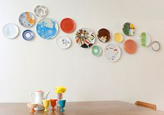 I'm pleased to say that I actually used this as inspiration for a plate wall in my own home. And I love it!