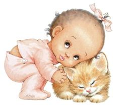 Illustrations by Ruth Morehead Illustration Mignonne, Cute Illustration, Baby Pictures, Cute Pictures, Young Animal, Digi Stamps, Baby Cards, Vintage Children, Cat Art