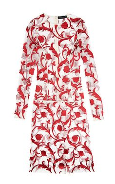 Venetia Embroidered Lace Dress by Jonathan Saunders for Preorder on Moda Operandi