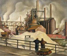 Gregory Orloff:  Gravel Yards (1934) via the Smithsonian American Art Museum