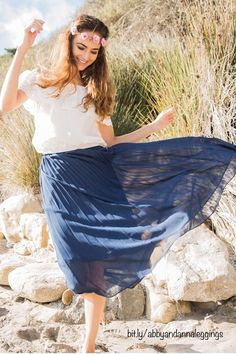 I love this flow abby + anna pleated skirt! It comes in several colors