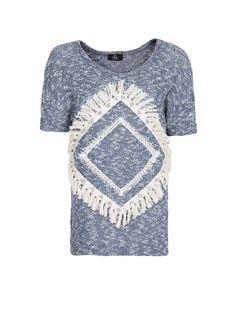 MANGO - Navajo flecked sweatshirt Sweat Shirt, Navajo Style, Saum, Albania,  Woman 0386bfc297
