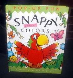 Vintage (1998) Snappy Little Colors 3D Pop-Up Book for kids. Learn about colors by Kathie Lee, Caroline Repchuk. Templar Publishing UK.