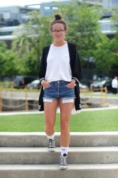 High Top Converse Outfits With Shorts