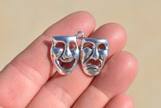 4 Silver Theatre Arts Charms SC1201 by LorettasBeads on Etsy