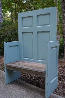 Dumped and Discovered ~ Great reuse for an old door!
