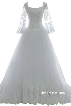 http://www.ikmdresses.com/2015-Women-Appliques-Bridal-Gowns-A-line-Wedding-Dresses-with-Sleeves-p88161