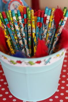 Take home Dr Seuss pencils