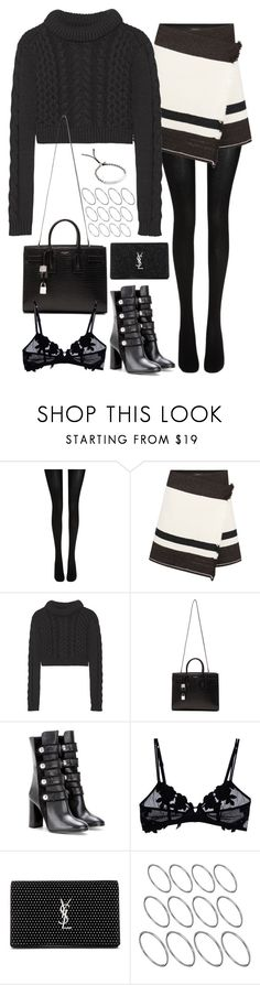 """""""Untitled#4486"""" by fashionnfacts ❤ liked on Polyvore featuring Wolford, Isabel Marant, TIBI, Yves Saint Laurent, La Perla, ASOS and Michael Kors"""
